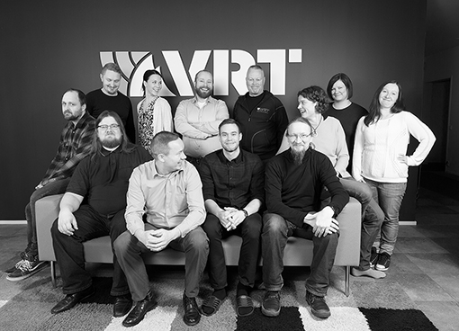 Photo of the VRT team