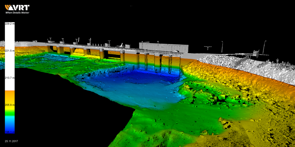 Example of hydropower plant 3D data