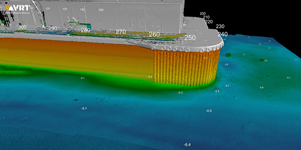 Post-processed detailed 3D data of SBP South Wales port structures