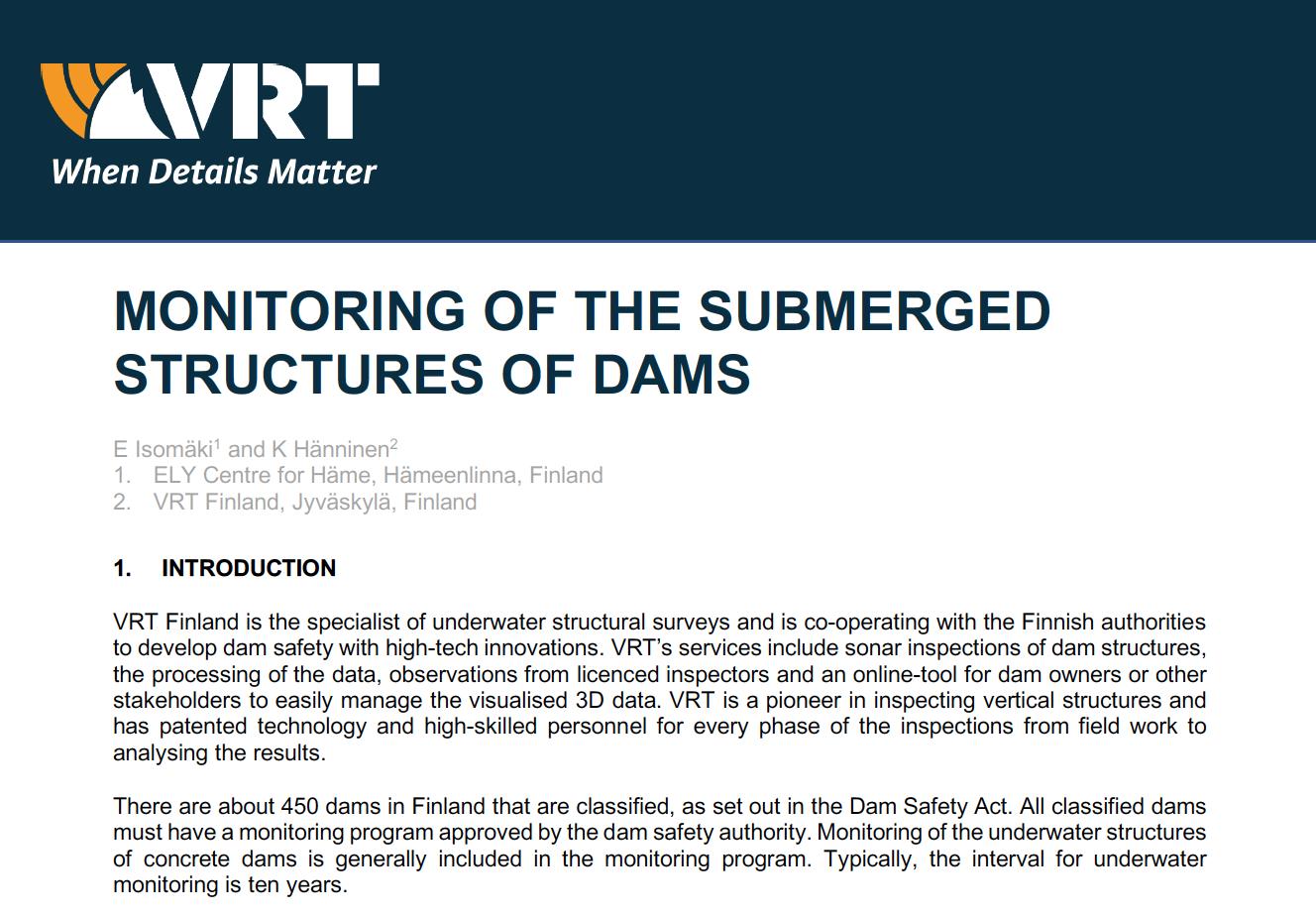 Dam safety white paper