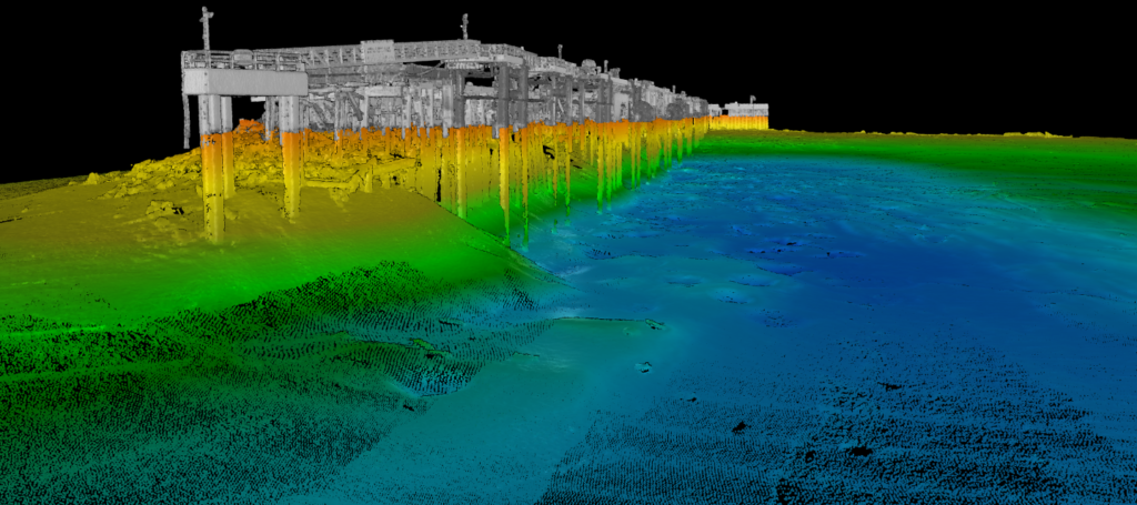 3D visualization of underwater data